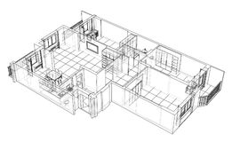 Interior sketch. Vector Royalty Free Stock Images