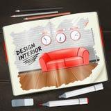 Interior Sketchbook Illustration Royalty Free Stock Images
