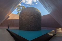 Interior Skyspace sculpture. Canberra. Australia. Interior of James Turrell's Skyspace sculpture 'Within Without' located in new Australian Garden of National stock photo