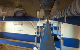 Interior of sleeper train Royalty Free Stock Images