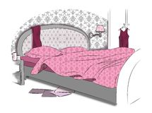 Interior of sleeping room Royalty Free Stock Images
