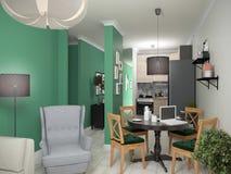Interior small apartments. Stock Photos