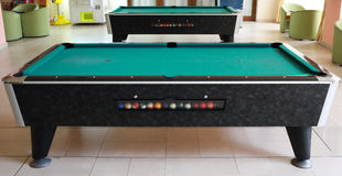 Interior of the small billiard room with two tables Royalty Free Stock Photography