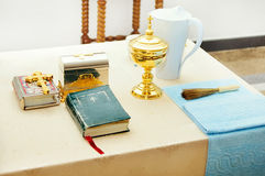 Interior of a small Christian Church Royalty Free Stock Images
