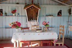 Interior small Church Amazonia stock images