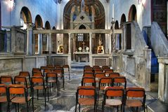 Interior of small church in Rome, Italy Stock Photos
