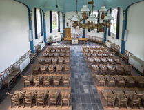 Interior of a small historic church in the Netherlands Stock Photos