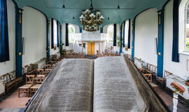 Interior of a small historic church in the Netherlands Stock Images
