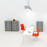Interior of small office Royalty Free Stock Photography