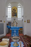 Interior of small orthodox church Stock Photography
