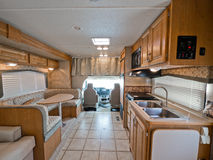 Interior of small RV. Interior of Class C motor home royalty free stock images