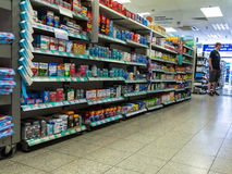 Interior of small store on Baker street. London. UK Royalty Free Stock Photography
