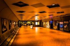 Interior of the Smithsonian Metro Station, in Washington, DC. Stock Photo