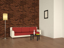 Interior with a sofa Royalty Free Stock Images
