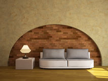 Interior with a sofa. And a lamp Royalty Free Stock Photos