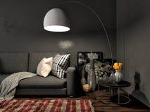 Interior with sofa. 3d illustration.  Royalty Free Stock Photo