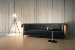Interior with sofa and lamp Royalty Free Stock Photos