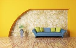 Interior with sofa Stock Photos