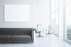 Interior with sofa and poster Stock Photo