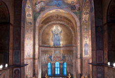 Interior of Sofia Cathedral in Kiev Royalty Free Stock Photo