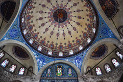 Interior of Sokollu Mehmet Pasha mosque, Istanbul, Turkey royalty free stock photos