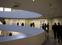 The interior of Solomon R. Guggenheim Museum Stock Images