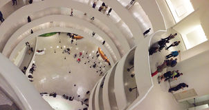 Interior of the Solomon R. Guggenheim Museum Stock Photos