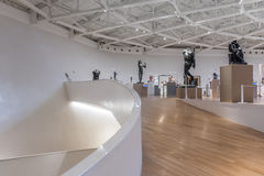 Interior of Soumaya museum Museo Soumaya. MEXICO CITY - NOV 1, 2016: Interior of Soumaya museum Museo Soumaya. Soumayo Museum has over 66,000 works from 30 Stock Photography