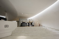 Interior of Soumaya museum Museo Soumaya. MEXICO CITY - NOV 1, 2016: Interior of Soumaya museum Museo Soumaya. Soumayo Museum has over 66,000 works from 30 Royalty Free Stock Photo