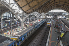 Interior of Southern Cross Station, Melbourne, Australia. Stock Image