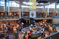 Interior of a souvenir shop inside CN tower in Toronto Royalty Free Stock Photos