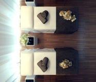 Interior spa salon royalty free illustration