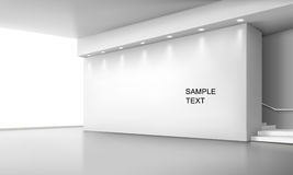 Interior space. Vector illustration of indoor white space Royalty Free Stock Image