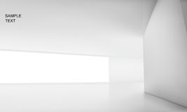 Interior space. Vector illustration of indoor white space Stock Images
