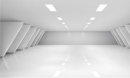 Interior space. Vector illustration of indoor white space Stock Image