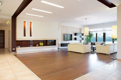 Interior of spacious house Stock Photos