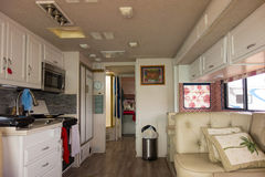 The interior of a spacious motorhome Stock Images