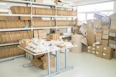 Interior of Factory Warehouse stock photos