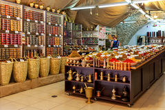 Interior of spice shop in Old City of Jerusalem. Stock Images