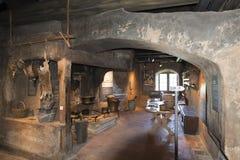 Interior of Spiez castle, Switzerland royalty free stock photos