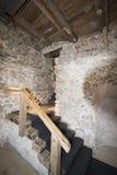 Interior of Spiez castle, Switzerland stock photography
