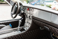 Interior of a Spijker sportscar Royalty Free Stock Photo