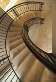 Interior - spiral staircase Stock Photo