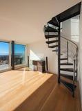 Interior, spiral staircase Stock Photography