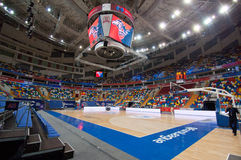 Interior of Sport arena Megasport, Moscow, Russia stock photos