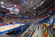 Interior of Sport arena Megasport, Moscow, Russia Stock Image