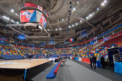 Interior of Sport arena Megasport, Moscow, Russia royalty free stock image