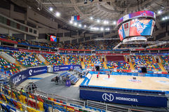 Interior of Sport arena Megasport, Moscow, Russia Royalty Free Stock Images