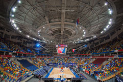 Interior of Sport arena Megasport, Moscow, Russia royalty free stock photography