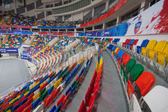Interior of Sport arena Megasport, Moscow, Russia royalty free stock photo